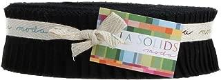Bella Solids Black Honey Bun 40 1.5-inch Strips Moda Fabrics 9900HB 99