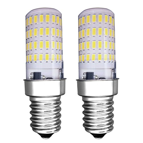 MZMing [2 Piezas] E14 Pequeño LED Bulbo 4W Bombillas Nevera - Dimmable 6000K Blanca Fría 450lm de Haz de Halógena de 40W- Calor Bajo Usado para Nevera /Máquina de Fumar/Máquina de Coser