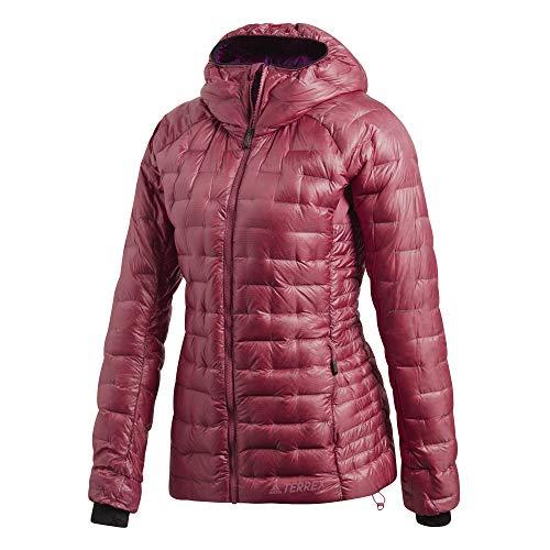 adidas W Terrex Climaheat Jacket Rot, Damen Daunen Jacke, Größe 42 - Farbe Trace Maroon