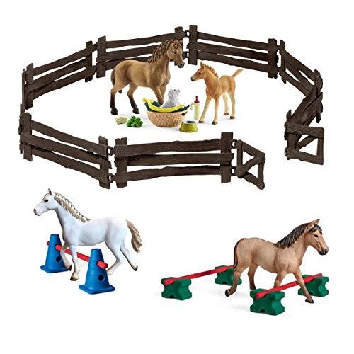 Spar-Set 174324 - Schleich - Pferdezucht - Fohlen + 3 Stuten und Pony-Slalom