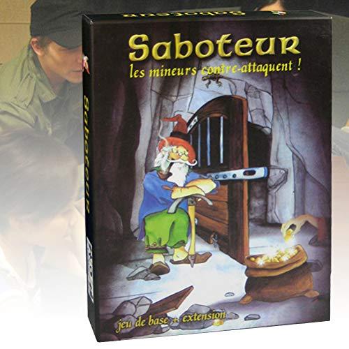 Ububiko Saboteur, Juego de Mesa 286 Cartas, Saboteur Versión 1 + 2, Juego del Saboteador Consigue Maximo de Oro para Ganar, única