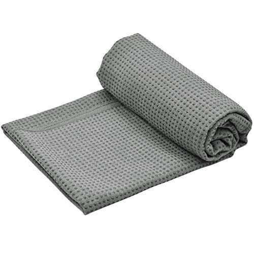 Fangehong Yogamattenauflage rutschfest mit Noppen für Pilates, Yogamatten Handtücher Groß mit Tasche für Bikram, Travel