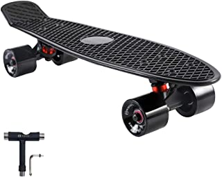 WHOME Skateboards for Beginners, 22 Inch Cruiser Skateboard Complete for Cruising Commuting Rolling Around, Also Fits for Adults, Youths, Boys, Girls, Men, and Kids, Tool Included