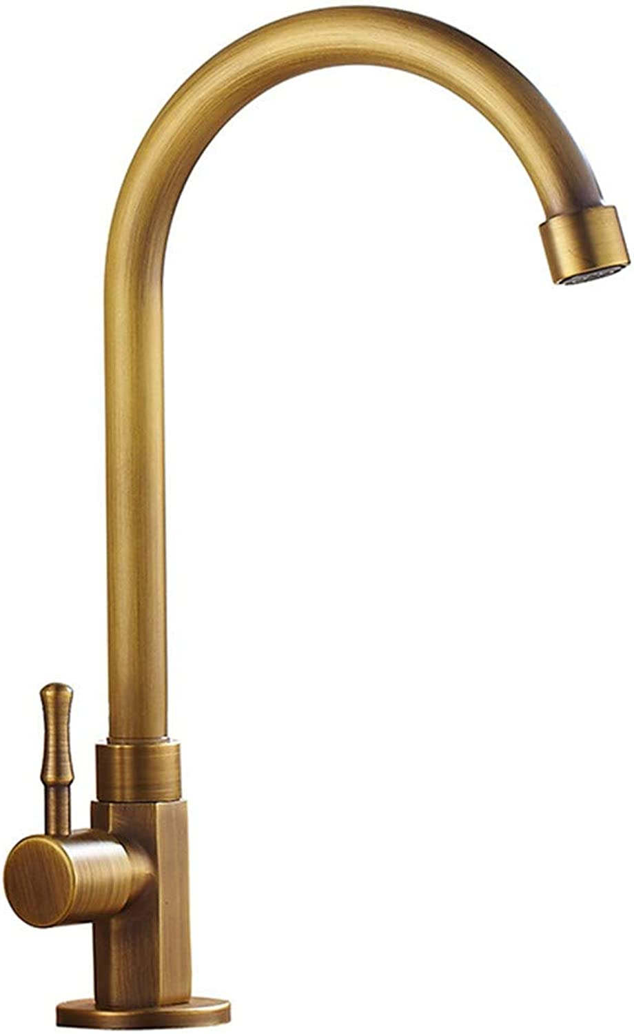 Hlluya Professional Sink Mixer Tap Kitchen Faucet The copper tower single cold basin faucet redary antique faucet antique basin sinks faucets, taps separately.