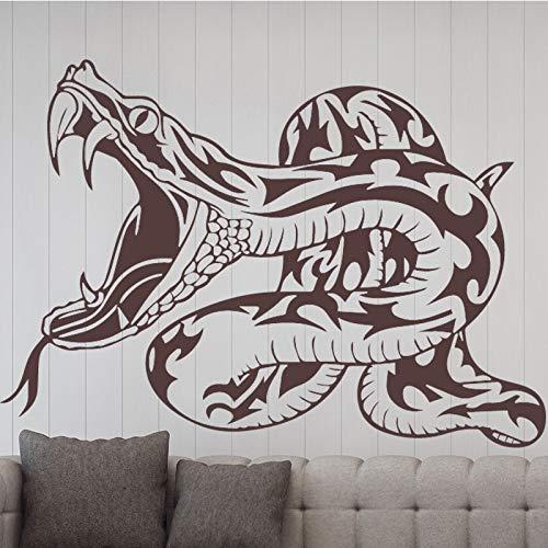 Vcnhln Pegatinas de Pared con patrón de Serpiente, Accesorios de decoración de Dormitorio para niños, Pegatinas artísticas de Vinilo, decoración de Dormitorio, 58 cm x 41 cm