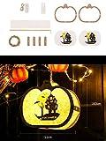 GERPAOL Luces de Halloween al Aire Libre,Bolsa de Material de Bricolaje niños Linterna Hecha a Mano (Fantasma Blanco/Naranja Calabaza/murciélago Morado)