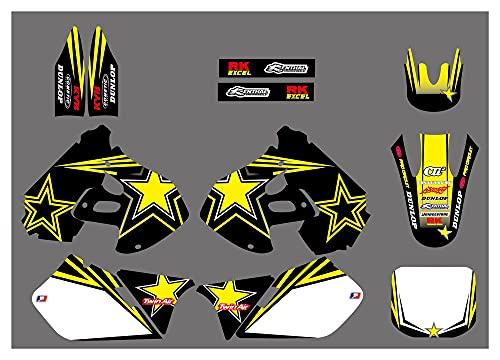 YINZHI Motocicleta Nuevas calcomanías de Equipo Pegatinas Gráficos Fit para Suzuki RM125 RM250 RM 125 250 1999 2000 Motocross Dirt Bike (Color : Custom Sticker)