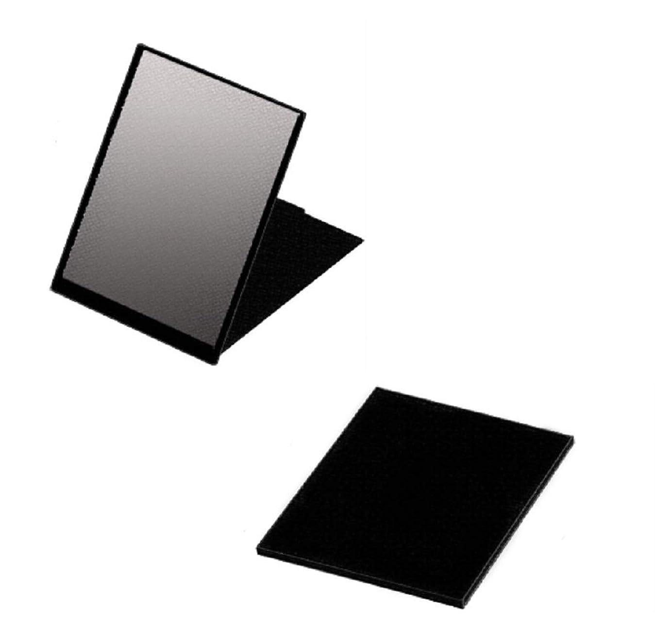 水曜日蚊確認ハイパービュースリム&ライトコンパクトミラー(M) HV-001 ブラック