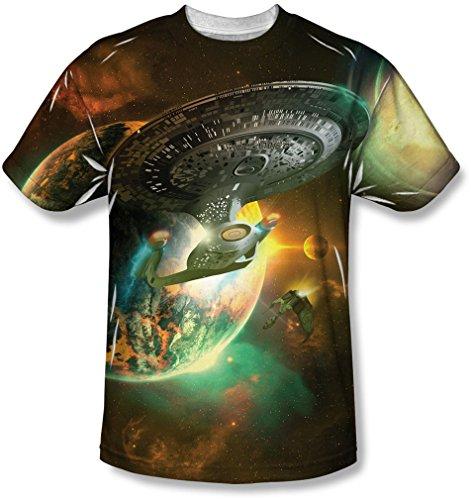 Star Trek - - Bataille Ships Hommes T-shirt, Medium, Sublimate White