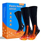 Heated Sock, Double-Sided Heated Electric Sock 3000MAH Camping Foot Warmer 3-Gear Thermal Battery