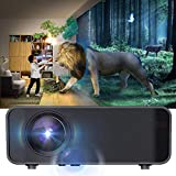 Oyunngs Mini-Videoprojektor, tragbarer LED 480P HD Bluetooth-Videoprojektor, USB-Heimkino-HDMI-Multimedia-Player für Heimunterhaltung(Schwarz)