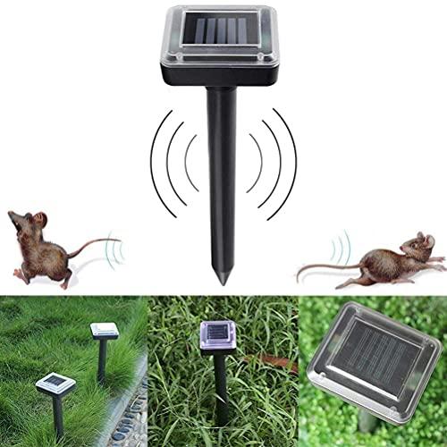 Repelente solar ultrasónico permanente de plagas Repelente de aves Ratones Serpiente Repelente de roedores Repelente ultrasónico electrónico de ratas y ratones Espantapájaros para control de aves Páj