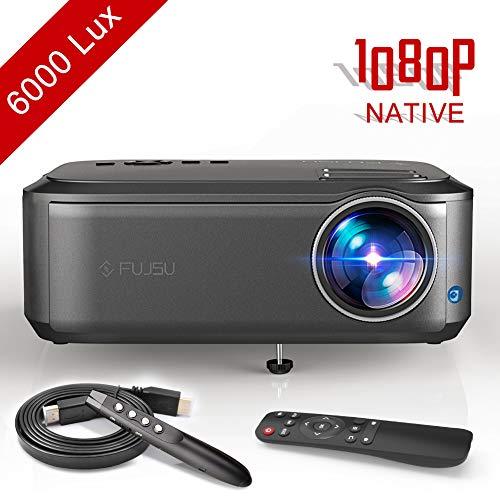 Proiettore Full HD 1080P 4000 Lumen Videoproiettore LED fino a 50000 Ore di Cinema Domestico Compatibile con AV HDMI USB VGA SD per presentazioni di Office PowerPoint home theater