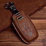 Funda para llave de coche de piel inteligente, compatible con Audi A6, RS4, S5, A3, Q3, Q5, S3, A4, Q7, A5, TT 2018, carcasa de llave de coche ABS