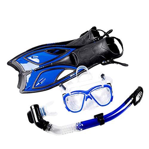 Juego de buceo gafas de buceo tubo de respiración de silicona aletas de natación subacuáticas máscara de buceo para adultos y jóvenes