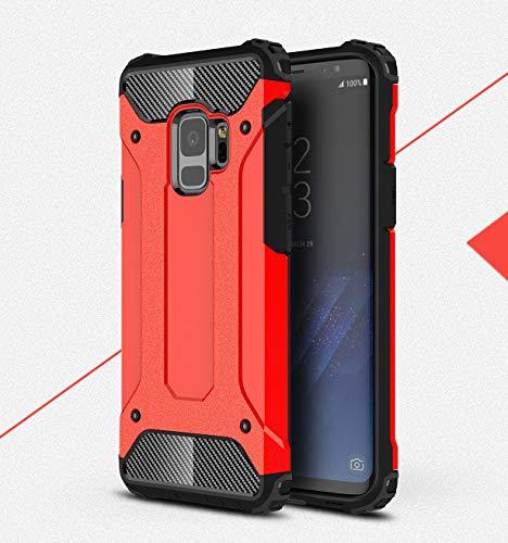 BRAND SET Funda Samsung Galaxy S9,Material de Carcasa Blanda PC+TPU,disipación de Calor de Malla incorporada y diseño a Prueba de Polvo,Adecuado para Samsung Galaxy S9-Rojo