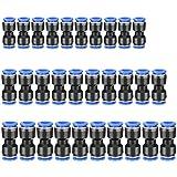 T de 8 mm sourcing map 8 piezas Empuje para conectar accesorios Tipo T Conexi/ón de tubo 8 mm o 5//16od Accesorios de ajuste a presi/ón Accesorios de tubo Empuje de bloqueo azul