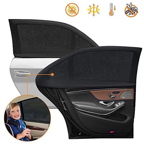 Auto-zonneschermen, autoruitschermen voor kinderen UV-stralen voor babys / anti-muggenbescherming, premium autoruit zonnescherm, muskietennet voor autos Universele maat Past op de meeste autos voor zijruiten aan de autozijde