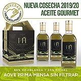 Prima Mensa sin filtrar - Aceite de Oliva Virgen Extra Calidad Gourmet - Caja especial regalo con 4 frascas de 500ml. Nueva Cosecha 1.029/20.