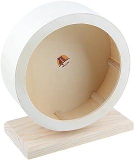 EMOURSCC小動物木製サイレントホイール ランニング ホイール 飼育ケージ アクセサリー (S)