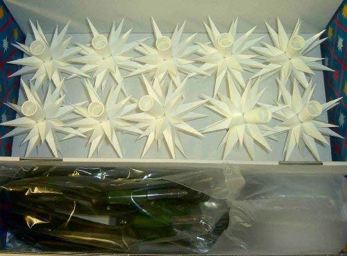 Original Herrnhuter Sterne Sternenkette A1s weiß für Innen und Außen (Weiß)
