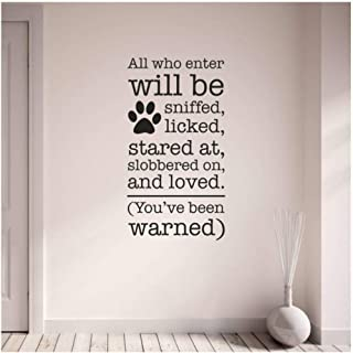 xjpgkd in This House Dog House Rules Wall Stickers Quote Home Decor Vinyl Home Decor Art Decor Cartoon Wall Decals Wall Sticker 42 X 80 cm