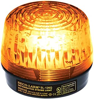 Seco-Larm SL-126Q/A Xenon Tube Strobe Light, Amber, Easy 2-wire Installation, Low Current Consumption, 300 Continuous Hours Lifespan, High-impact Resistant Acrylic, For 6 to 12V Use