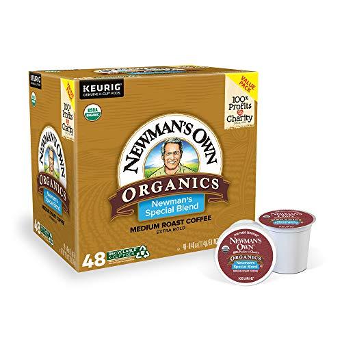 Newman's Own Organics Special Blend, Single-Serve Keurig K-Cup Pods, Medium Roast Coffee, 48 Count