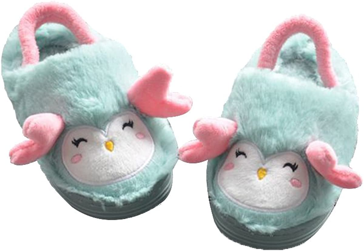 TINKSKY Boys Girls Cute Soft Warm Slippers Non-Slip Home Winter Shoes for Toddlers Kids - Size