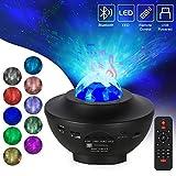 Opard LED Sternenlicht Projektor Sternenhimmel Rotierende Wasserwellen Projektionslampe, Kinder Nachtlicht Baby Sterne Lampe mit Fernbedienung/Timer/Bluetooth für Kinder Erwachsene Zimmer