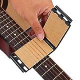 耐久性のあるプラスチック+使いやすいギター弦クリーニングツール、ギター弦クリーナー、アコースティックギターベース用の人間工学的(black)