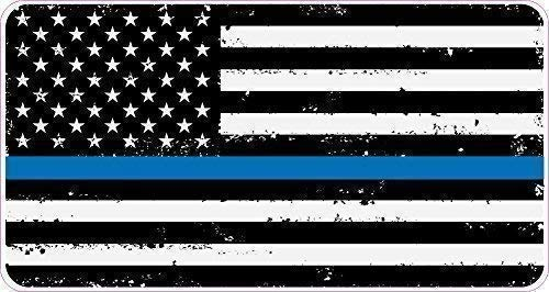 Fine Line Flag Thin Blue Line Decals in Black White and Blue American Flag St...