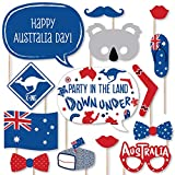 Big Dot of Happiness Australia Day - G'Day Mate Aussie Party Photo Booth Props Kit - 20 Count