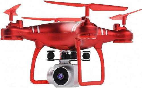 YINmiaomiao Drone aérien à Quatre Axes HJ14W HJ14Q Avion de Contrôle à Distance Haute définition Photographie aérienne FPV Choc Absorption voituredan,rouge
