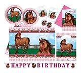 Procos 10110966B Partyset Horses, Größe XL, 64 teilig
