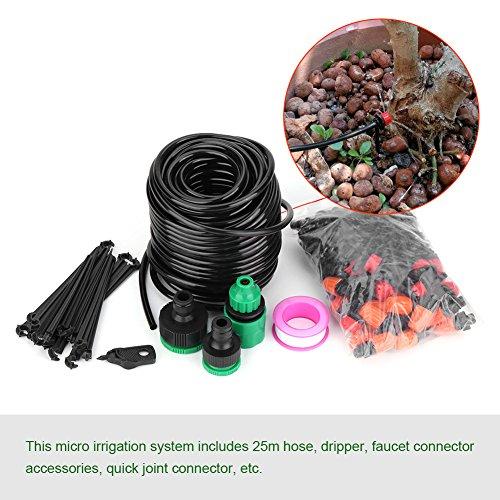 DIY Irrigatiesysteem Set Automatische Irrigatie Controle, Micro Druppel Tuin Irrigatie Incl. 1x Druppelbuis 25m, 6mm, 1x Druppelaar, Fix Kit, Gereedschap, Voor Tuinplant Kamerplant