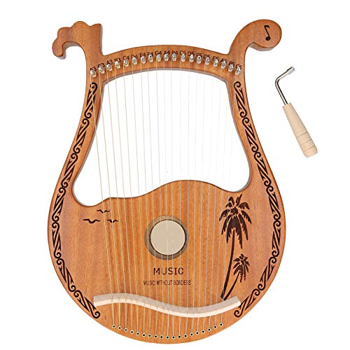 Leier, einfach zu spielen Stabile 19-saitige Harfe, abgerundete Kante für Erwachsene Anfänger Kinder Profis