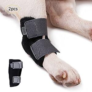 Redhot Dog Leg Wrap Protecteur de Jambe Sangle de Maintien Protège Coude Brace Protection protéger Jambe du Chien Chien Chirurgie blessure Jambe Protector Wrap Protège Brace 2PC, Noir