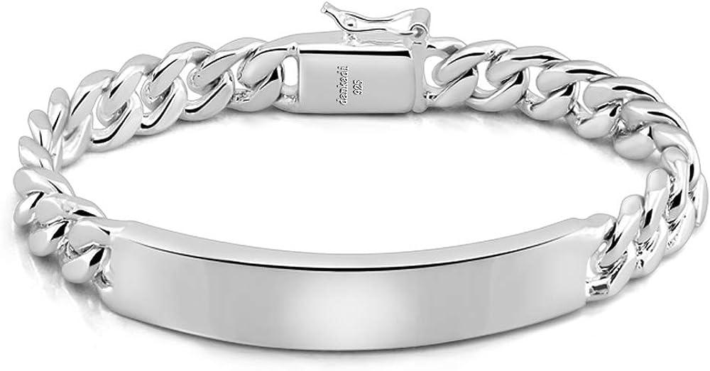Classic Men's Silver Super intense SALE Jewelry Bracelet Sterling 100% Max 54% OFF 925 B