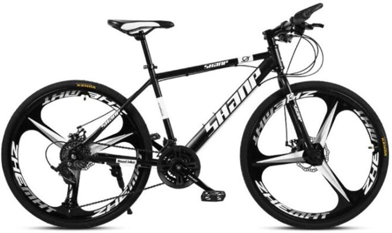 3カッターホイールマウンテンバイク、26インチホイールシティオフロードロードサイクリング自転車 (Color : 黒, Size : 30 speed)
