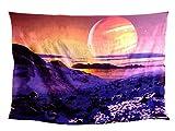 Traditional Jaipur Tapiz del Planeta Tapiz de Las montañas Impresión 3D Galaxy Tapices de Estrellas