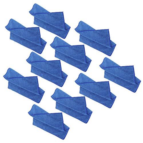 Caiqinlen Toalla de Mano Cuadrada Azul, Herramientas de Limpieza del hogar Toalla de Mano Absorbente, 30x30 cm rápida y fácilmente para la Cocina, Limpieza de Espejos, electrodomésticos