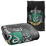 Harry Potter Slytherin Crest Black Silky Touch Super Soft Throw Blanket 36' x 58',Slytherin Crest