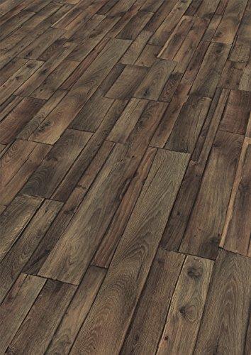 EGGER Home Laminat dunkel braun Holzoptik - Used Wood  EHL011 (8mm, 1,985m²) Klick Laminatboden | Bodenbelag
