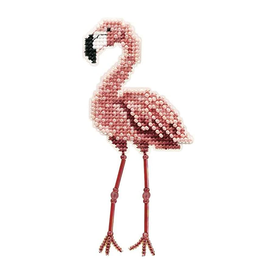 Flamingo Beaded Counted Cross Stitch Ornament Kit Mill Hill 2010 Spring Bouquet MH180105