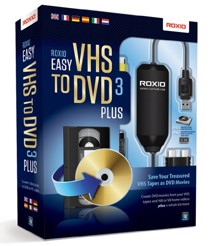 Roxio Easy VHS to DVD 3 Plus Videoschnittsoftware für Apple iPad/iPod Touch/iPhone und Android