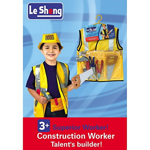 Fancydresswale Premium Community Helper Theme Costume for Fancy Dress competitions, Role Play and School Functions for Kids (Construction Worker, 3-8 Years)