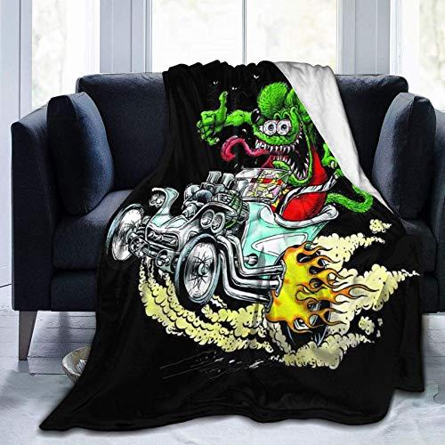 VJSDIUD Rat Fink Robuste Mikrofaser Flanell Fleece Decke ist Super Comfortablesoft Light Es ist geeignet für das Schlafsofa Wohnzimmer im Herbstwinter Spring Es ist auch EIN Geschenk an die Familie
