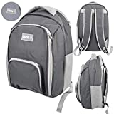 12L Insulated Cooler Backpack Camping Picnic Rucksack Beach Ice Cooling Bag (Grey)