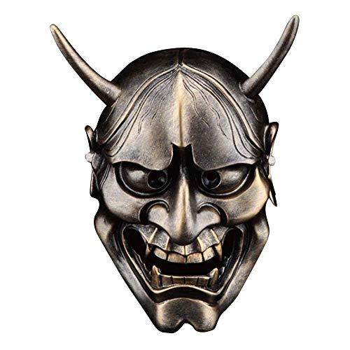 popchilli Halloween Horror Masker Hars-achtige Masker Full Face COS Volwassen Man Japanse Ghost Warrior